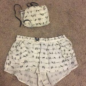 Other - bird on Powerline bundle (Cami top/ pocket shorts)